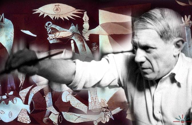 Pittori Spagnoli - Arte Spagnola Guernica di Pablo Picasso immagine AK Rockerfeller flickr.com/akrockerfeller