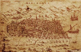 antica mappa di Barcellona - spagna.it- fonte wikipedia.org