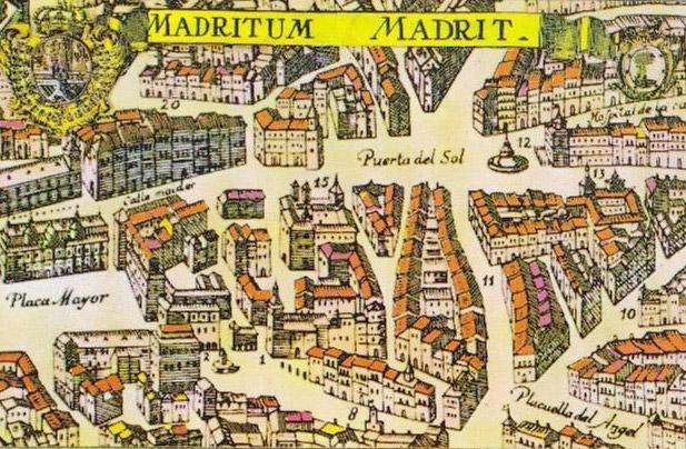 Mappa di Madrid antica