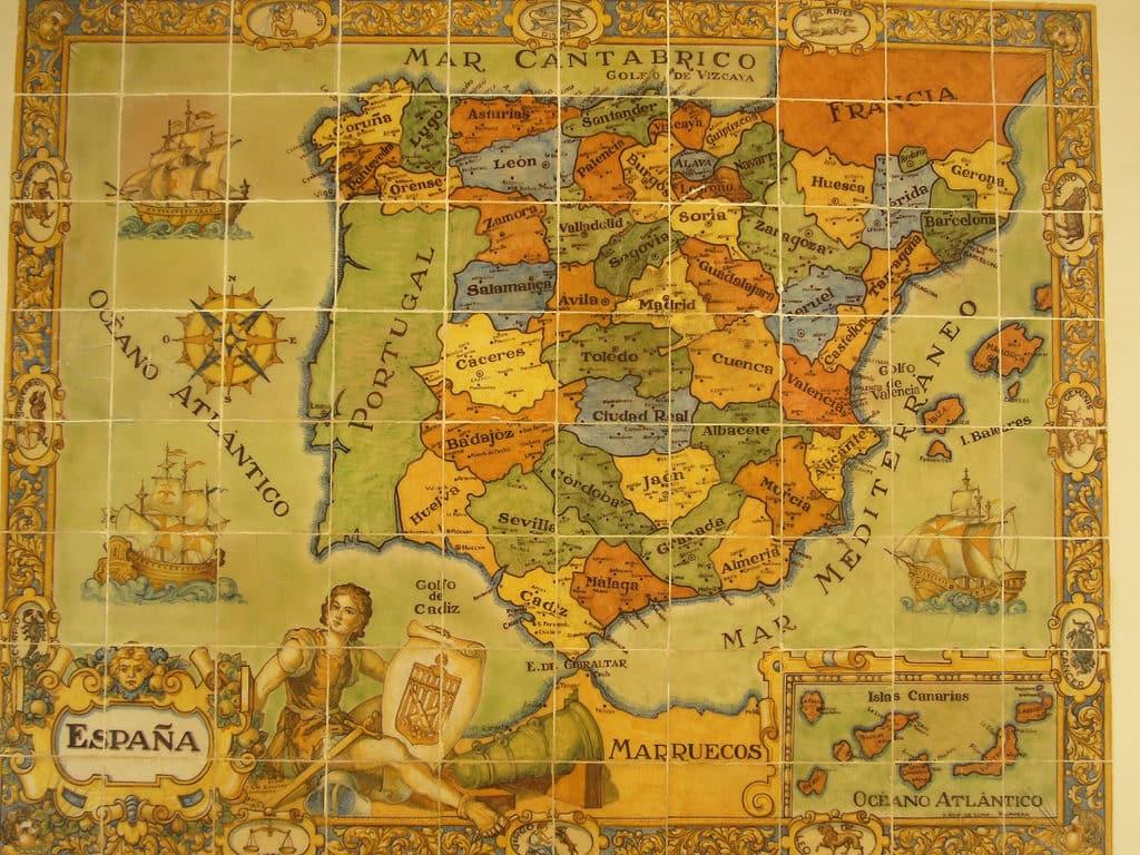 Cartina Spagna Antica.Geografia Della Spagna Spagna It