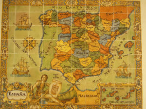 Mappa di Spagna